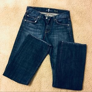 Seven of all man kind jeans size 29W & 32L Brett.